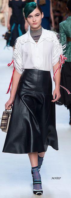 Fendi ~ Spring 2018 ※ #leather