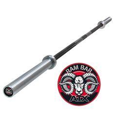 Original ATX® RAM BAR - Power Lifting Bar  + 700 kg. Diese hantelstange hat eine GEsatmlänge von 2200 mm mit einen Innenmaß von 1310 mm. Der Durchmesser der Griffstange beträgt 28,5 mm und die Hantelscheiben aufnahme 50mm. Es ist eine Mittelrändelung vorhanden. #atxpower #hantelstange50mm http://www.megafitness-shop.info/Kraftsport/Hanteln-Gewichte/Hantelstangen/50-mm/Original-ATX�-RAM-BAR-Power-Lifting-Bar-700-kg--3600.html