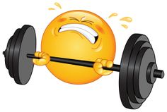 weightlifter emoticon sticker