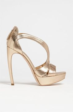 Architectural lines in Alexander McQueen Cutout Sandal at Nordstrom