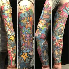 Tatouage par rico schinkel Source by Nintendo Tattoo, Pokemon Tattoo, Gaming Tattoo, Retro Tattoos, Cartoon Tattoos, Hot Tattoos, Body Art Tattoos, Tattos, Tattoo Now