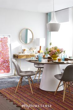 Everything is coming up roses with Spring on the horizon and fresh style blooming in-store. Tip: leaning large art pieces has the same impact without any holes in the wall! Bonus: it allows flexibility to rearrange whenever you want to quickly change up your look. Find endless possibilities for a Spring home refresh at HomeSense today. Visit our website to find a store near you!