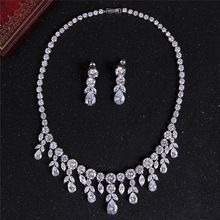BAOLIYA Trendy Cubic Zirconia Diamante Jewelry Set Necklace Earrings Sets For Women Ladies Jewelry Fashion Accessories