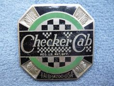 CHECKER CAB radiator emblem badge vintage