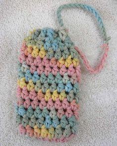 Crochet Soap Saver Soap Sack Soap Cozie Multi by mamaducksdesigns