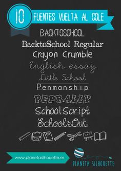 Fuentes school - planeta silhouette Vintage Fonts, Vintage Typography, Graphics Vintage, Vector Graphics, Silhouette Portrait, Silhouette Cameo, Free Cursive Fonts, Font Free, Tatto Name