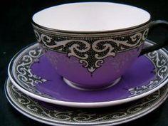 Royal purple Maling tea cup & saucer