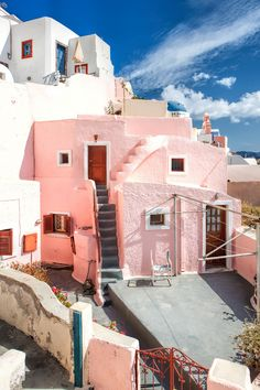 The Pink House - Oia, Santorini