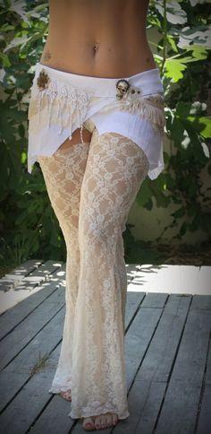 layered skirt garter pants set