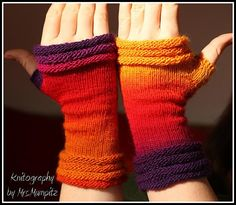 Unique fingerless mittens  oneofakind  by KnitographyByMumpitz, kr230.00