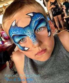 Great dragon/dino Dinosaur Face Painting, Monster Face Painting, Dragon Face Painting, Face Painting For Boys, Body Painting, Face Painting Tutorials, Face Painting Designs, Catrina Tattoo, Extreme Makeup