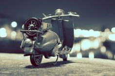 Kim Travels the World and Captures Clever Portraits of Her Tiny Vintage Cars