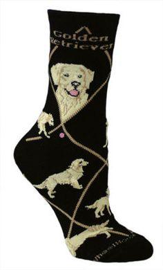 Golden Retriever Black Socks