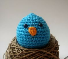 easter chick nursery toy, crochet easter egg crafts #2014 #easter #crafts www.loveitsomuch.com