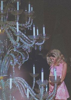 Marina and the diamonds I love this giant chandelier (: