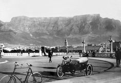 Parked for a stroll on the old pier, Old Pictures, Old Photos, Vintage Photos, Most Beautiful Cities, Illustrations And Posters, Cape Town, Old Houses, South Africa, Travel Photography