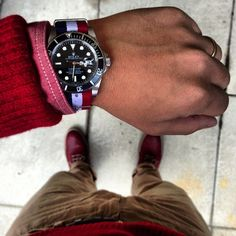 Rolex Submariner with a NATO strap