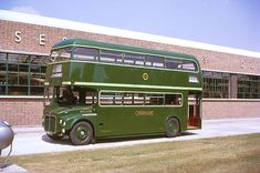 RMC 1458 (458 CLT) at the AEC works in JULY 1962 undergoing brake testing. Volkswagen Bus, Volkswagen Beetles, Vw Camper, Rt Bus, James Bond Movie Posters, Routemaster, Buses And Trains, Double Decker Bus, Bus Coach