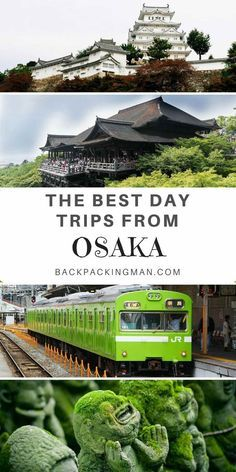 Japan travel   A collection of some of the best day trips from Osaka. Can you recommend others not mentioned here? #japan #osaka #kyoto