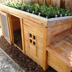 Planter Chicken Coop