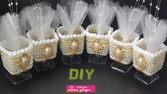 Роскошные Бонбоньерки своими руками #Marine_DIY_Guloyan - YouTube Wedding Favors And Gifts, Brick Stitch Tutorial, Mothers Day Crafts, Floral Arrangements, Diy Wedding, Christmas Crafts, Recycling, Baby Shower, Diy Crafts