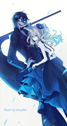 Uploaded by Ghost. Find images and videos about satsuriku no tenshi and angel of slaughter on We Heart It - the app to get lost in what you love. Angel Of Death, Angel S, Anime Angel, Otaku Anime, Chica Anime Manga, Kawaii Anime, Couple Manga, Onii San, Mad Father