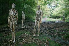 Driftwood sculptures by Nagato Iwasaki
