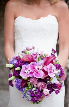 Purple wedding flower bouquet, bridal bouquet, wedding flowers, add pic source on comment and we will update it. can create this beautiful wedding flower look. Purple Wedding Bouquets, Bride Bouquets, Flower Bouquet Wedding, Wedding Colors, Bridesmaid Bouquets, Pink Bouquet, Flower Bouquets, Bridesmaids, Wedding Wishes