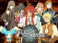 Anime:Tales of the Abyss Genre:Action,Adventure,Fantasy,Romance Story:Luke fon Fabre,the son of the Duke of the Kimlasca Kingdom,was kidnapped as a child and lost all of his memories.Years later,while dueling with his teacher,Master Van,a mysterious woman named Tear attacks Van and accidently transports Luke and herself halfway around the world.She feels bad that she got Luke involved and tells him that she will get him back home as soon as possible. Age Recommended:14+