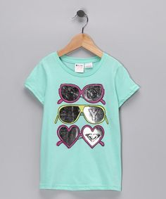 affe698fc Take a look at this Sea Foam Many Shades Tee - Toddler   Girls by Roxy