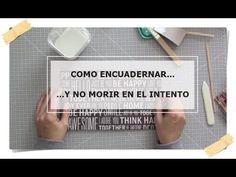 (452) SCRAP DESDE CERO. COMO ENCUADERNAR CON COLA - YouTube