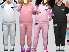 The Sims 4 Adidas Athletic Toddler Toddler Cc Sims 4, Sims 4 Toddler Clothes, Sims 4 Cc Kids Clothing, Sims 4 Teen, Sims Four, Sims 4 Mods Clothes, Toddler Outfits, Kids Outfits, Sims Cc