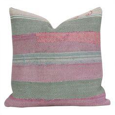 Pink Bengal Kantha Pillow