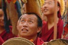 Pilgrims in Tibet gathering for Tibetan traditional festival.