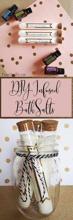 DIY: Infused Bath Salt. Great Last minute holiday gift or diy craft. @fennelandfir