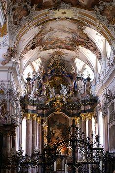 Amorbach, Abteikirche, Hochaltar (Abbey Church, high altar)