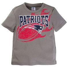 Toddler New England Patriots Team Tee, Kids Unisex, Size: 18 Months, Med Grey