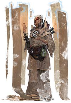Adeptus Administratum - Civilian Life in Hive city - Necromunda - Warhammer Dark Fantasy, Fantasy Art, The Inquisition, Warhammer 40k Art, The Grim, Fantasy Characters, Rogues, Dark Art, Cyberpunk