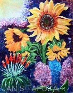 Affair With the Sun by janis tafoya in the FASO Daily Art Show