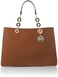 Michael Kors Cynthia tan ew tote bag on shopstyle.com
