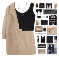 """hacked set by elena"" by samiikins ❤ liked on Polyvore featuring Maison Margiela, Cacharel, Christy, ASOS, NARS Cosmetics, Topshop, Zara, Nicole Miller, Aesop and Acne Studios"