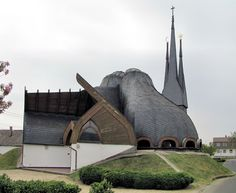 Holy Spirit Catholic #Church, Paks, Hungary #architecture #places