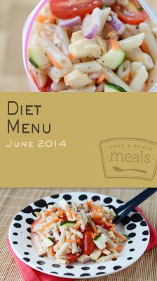 Diet June 2014 Menu | OAMC from Once A Month Meals | Once A Month Meals | Freezer Cooking | Freezer Meals | Weight Watchers | Points Plus