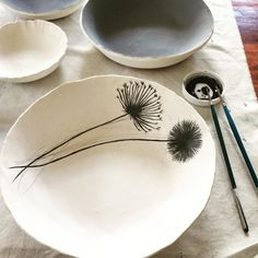 Hand painting on porcelain  #handmade #ceramics #pottery #PotteryClasses