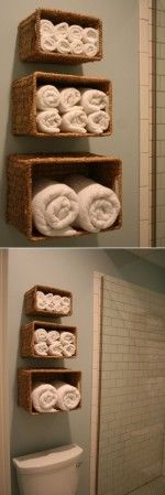 Simple Towel Organizer for Small Bathrooms
