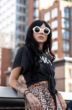 Hanna Beth .,leopard skirt printing