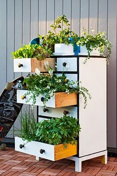 Drawers would make cute planters with or without the dresser.  :)