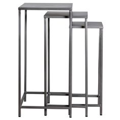 Perry Set of 3 Tall Nesting Tables (India) - Overstock Shopping - Top Rated NA Coffee, Sofa & End Tables