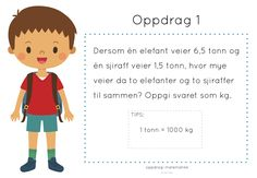 frk linn: oppdrag: matematikk #1 Teaching Math, Maths, Numeracy, Math Worksheets, Family Guy, Teacher, Education, School, Children