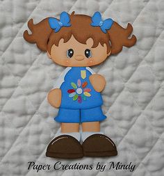 Daisy Girl Scout, premade paper piecing for scrapbooks pages albums borders